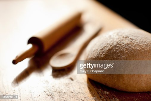 Homemade whole grain bread rising : Stock Photo