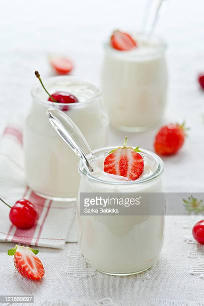Homemade yogurt with fresh berries