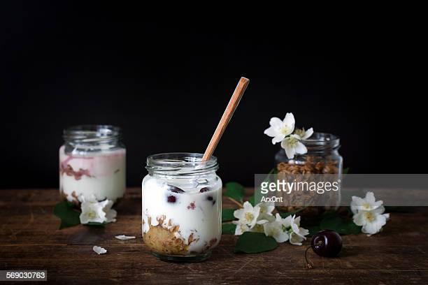 Homemade yogurt with granola