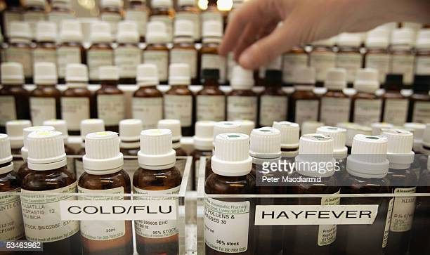 Homeopathic remedies are seen at Ainsworths Pharmacy on August 26 2005 in London British medical journal The Lancet has attacked the use of...