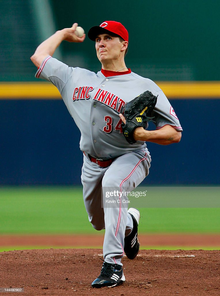 <a gi-track='captionPersonalityLinkClicked' href=/galleries/search?phrase=Homer+Bailey&family=editorial&specificpeople=759409 ng-click='$event.stopPropagation()'>Homer Bailey</a> #34 of the Cincinnati Reds pitches to the Atlanta Braves at Turner Field on May 14, 2012 in Atlanta, Georgia.