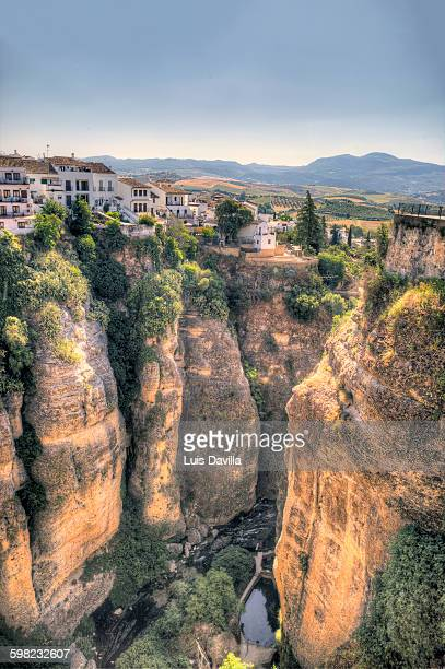 Homes along cliffs, Ronda