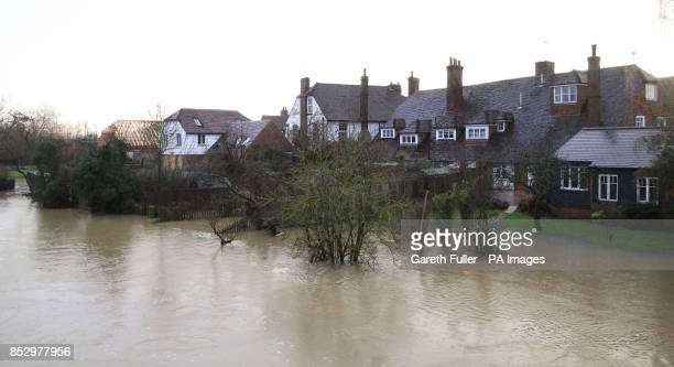 Homes Along The River In Yalding Kent As Levels Rise Around Village And