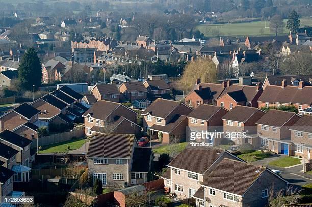Case su un alloggiamento Estate nel Regno Unito