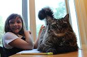 Homework with Cat