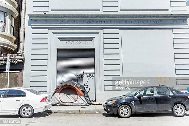 Homless Encampment on Minna Street in San Francisco