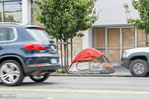 Homless Encampment on South Van Ness Street in San Francisco