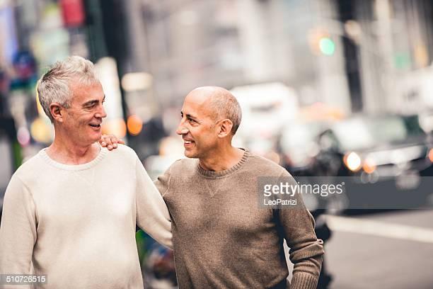 Homosexuell Paar während Ihres Urlaubs in New York
