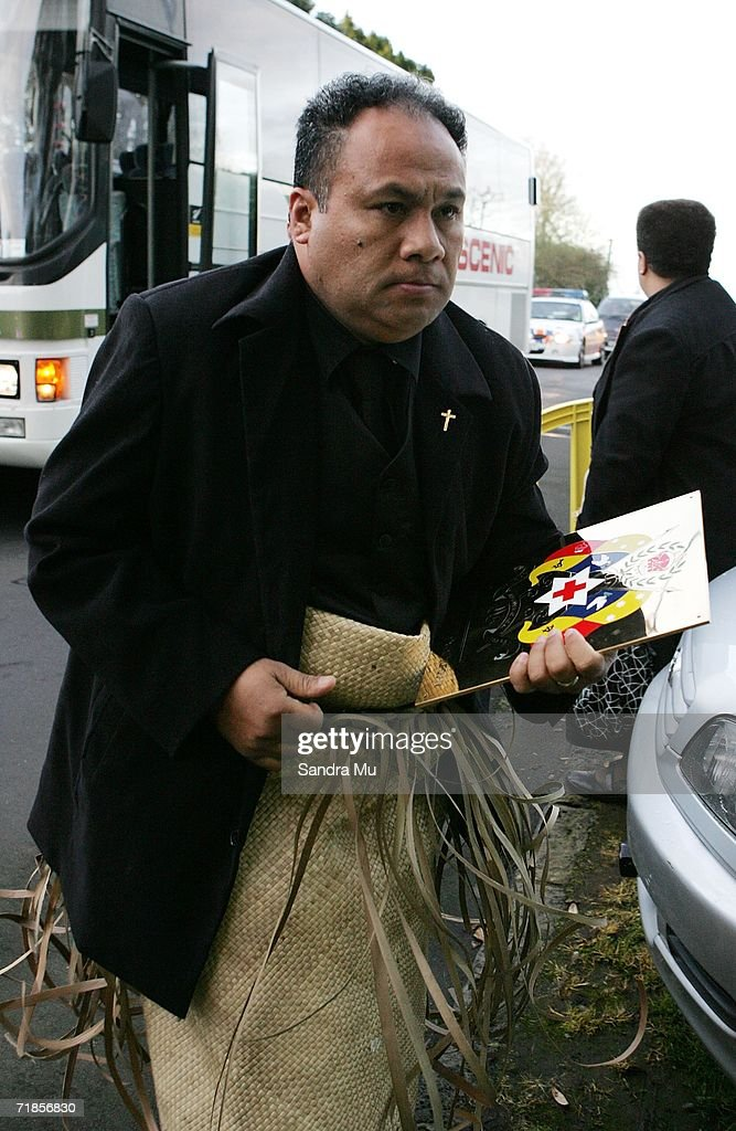 Hon. Fielakepa, Lord Chamberlain of the Tongan Royal Household arrives at the Royal residence with the body of the Late King of Tonga, Taufa'ahau Tupou IV in Epson, September 12, 2006 in Auckland, New Zealand. The body of the Late King will lie in state at his Auckland residence Atalanga before flying back to Tonga tomorrow for a state funeral.