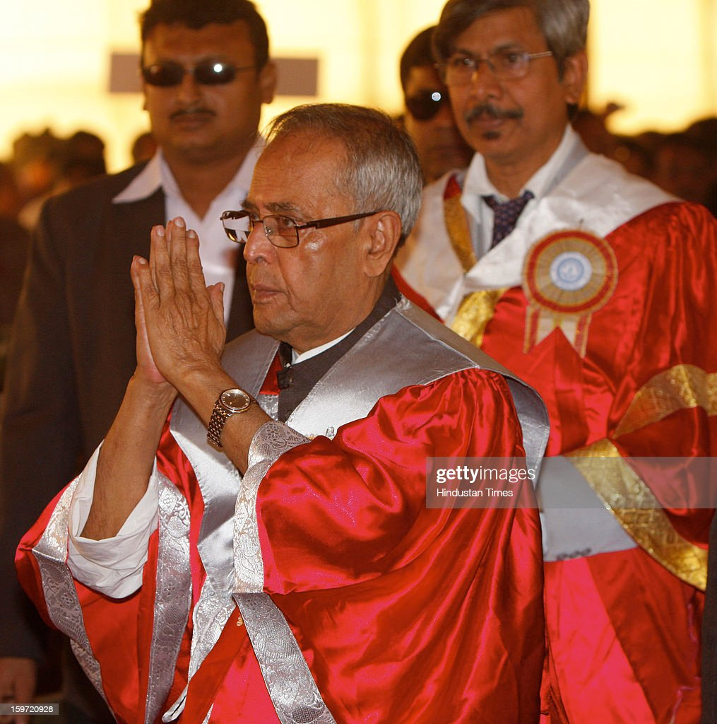 Hon'ble President of India Pranab Mukherjee during the 15th Annual convocation at Bengal Engineering Science University, on January 19, 2013 in Kolkata, India.