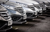 Honda cars are offered for sale on the forecourt of a main motor car dealer in Brislington on October 6 2015 in Bristol England Latest data from the...
