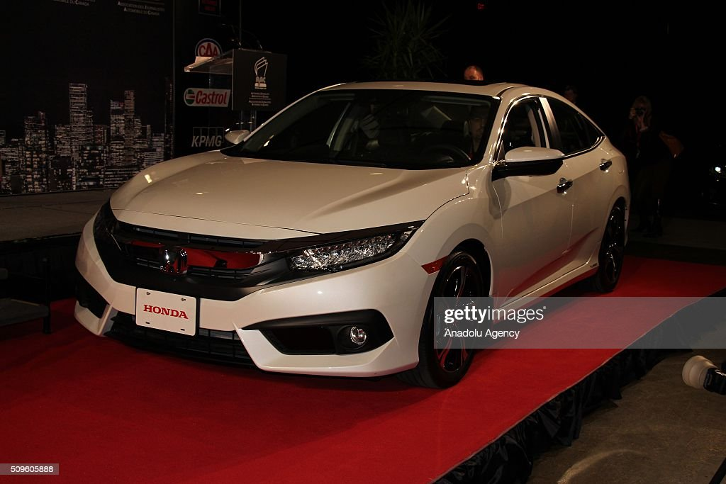 A Honda Civic is on display during the Canada Auto Show at Toronto Metro Convention Center in Toronto, Canada on February 11, 2016.