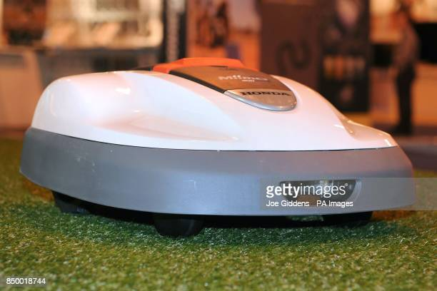 Honda Miimo robot lawnmower on show at the Gadget Show Live 2013 at the NEC Birmingham