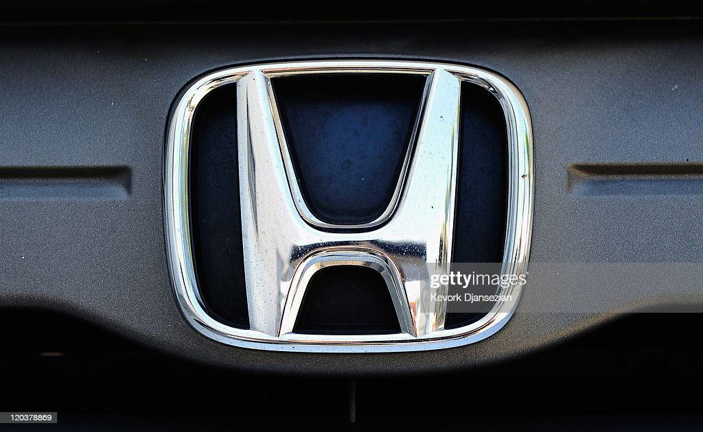 Honda Motor Co emblem is seen at the Honda of Hollywood dealership on August 5 2011 in Los Angeles California Honda Motor Co is recalling 25 million...