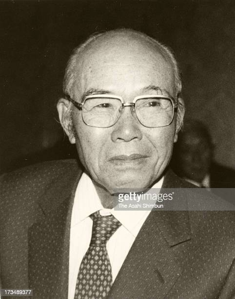 Honda Motor Co founder and supreme advisor Soichiro Honda circa 1980s in Japan