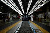 Honda Motor Co Odyssey minivans go through final inspection on the assembly line at Honda Manufacturing of Alabama LLC facility in Lincoln Alabama US...