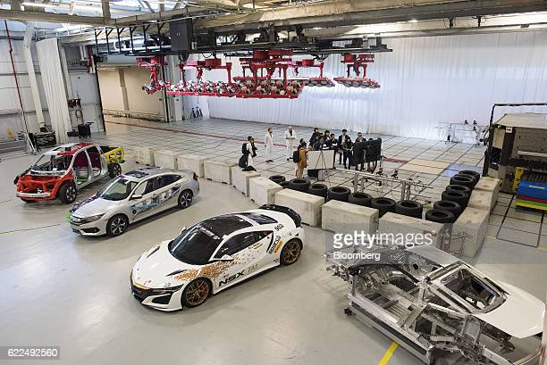 Honda Motor Co vehicles stand on display at the safety operations area of the Honda Auto Plant in Marysville Ohio US on Thursday Nov 10 2016 Honda...