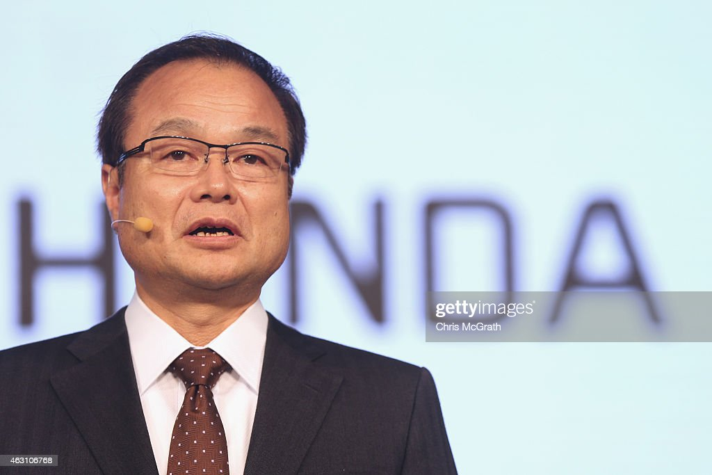 Honda Motor Co.,Ltd. President, Chief Executive Officer and Representative Director <a gi-track='captionPersonalityLinkClicked' href=/galleries/search?phrase=Takanobu+Ito&family=editorial&specificpeople=5696906 ng-click='$event.stopPropagation()'>Takanobu Ito</a> speaks during a press conference at the Honda Motor Co. headquarters on February 10, 2015 in Tokyo, Japan. Honda Motor Co., Ltd. held a press conference in the run-up to the Australian Grand Prix of the FIA Formula One World Championship (F1) happening in March 13-15, 2015. McLaren-Honda drivers Fernando Alonso and Jenson Button expressed their enthusiasm for the first race.