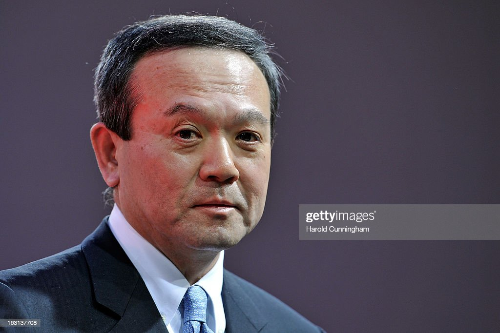 Honda Motor Company, CEO <a gi-track='captionPersonalityLinkClicked' href=/galleries/search?phrase=Takanobu+Ito&family=editorial&specificpeople=5696906 ng-click='$event.stopPropagation()'>Takanobu Ito</a> looks on during the 83rd Geneva Motor Show on March 5, 2013 in Geneva, Switzerland. Held annually the Geneva Motor Show is one of the world's five most important auto shows with this year's event due to unveil more than 130 new products.