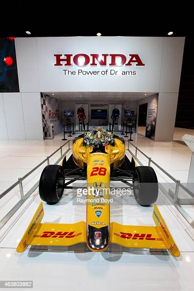 Honda Race Car 2014 Indy 500 winner at the 107th Annual Chicago Auto Show at McCormick Place in Chicago Illinois on FEBRUARY 13 2015