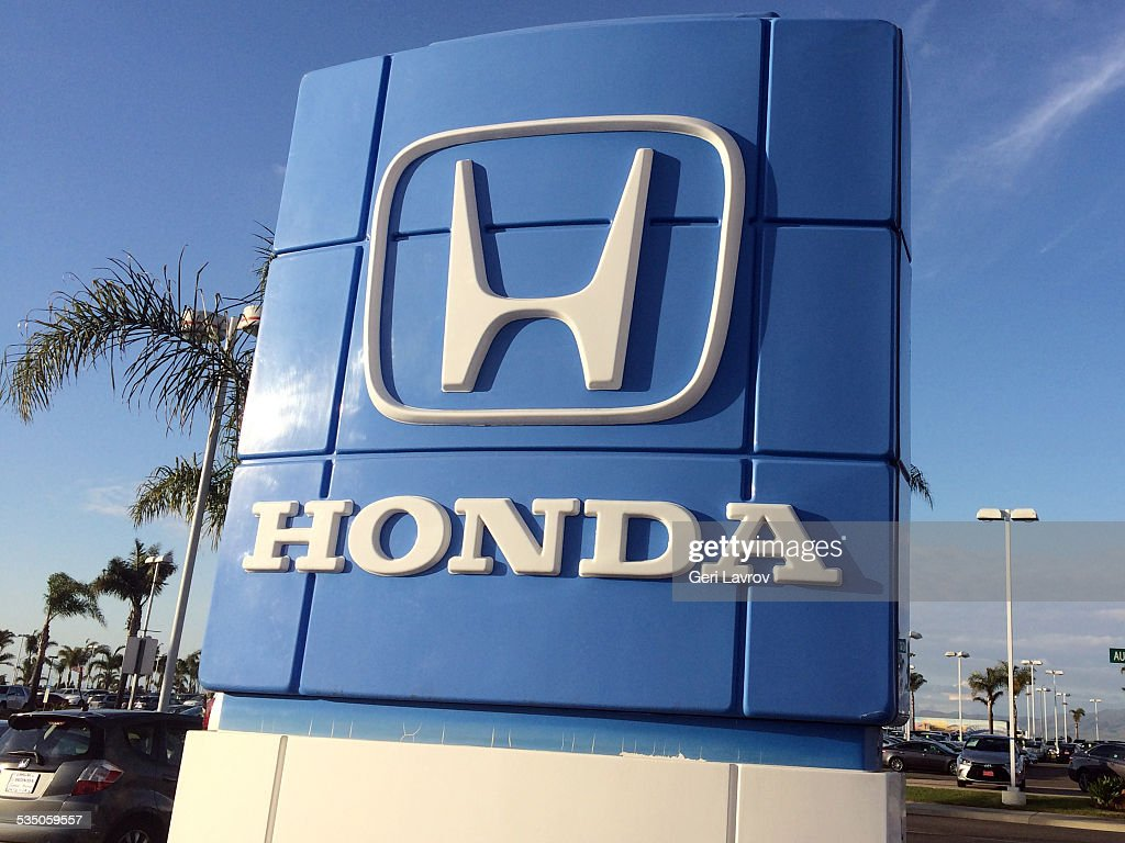 Honda sign at the entrance of the dealership in Santa Maria California
