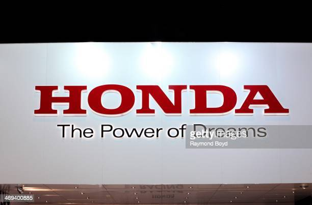 Honda signage at the 106th Annual Chicago Auto Show at McCormick Place in Chicago Illinois on FEBRUARY 07 2014
