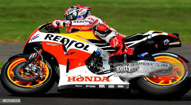 Honda's Marc Marquez during Free Practice 3 at Silverstone Northamptonshire