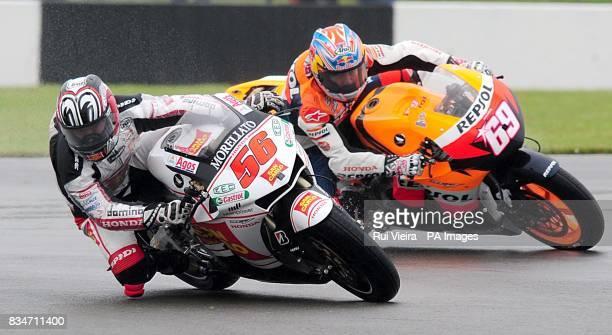 Honda's Shinya Nakano and Nicky Hayden