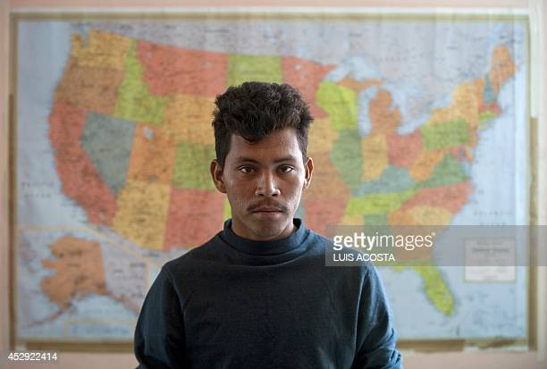 Honduran migrant Jose Medina awaits at the San Juan Diego shelter in Lecheria 30 km north of Mexico City on August 27 2010 Blame for the killing of...