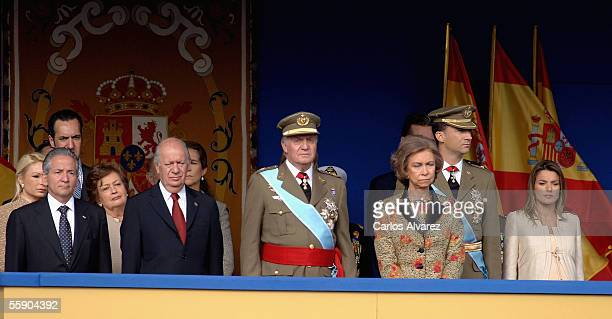 Honduran President Ricardo Maduro Chilean President Ricardo Lagos Spanish Royal's King Juan Carlos Queen Sofia Crown Prince Felipe and Princess...