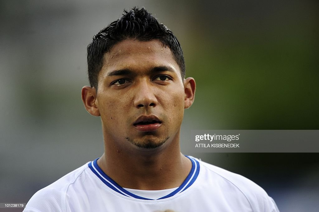Honduras' Emilio Izaguirre is seen prior to their friendly match against Belarus in the local stadium of Villach, on May 27, 2010 prior to the FIFA World Cup 2010 hosted by SouthAfrica between June 11 and July 11. The match ended with 2-2 equal.