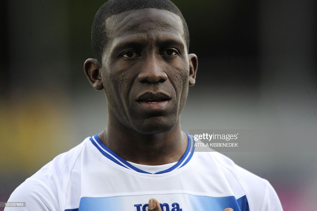 Honduras' Hendry Thomas is seen prior to their friendly match against Belarus in the local stadium of Villach, on May 27, 2010 prior to the FIFA World Cup 2010 hosted by SouthAfrica between June 11 and July 11. The match ended with 2-2 equal.