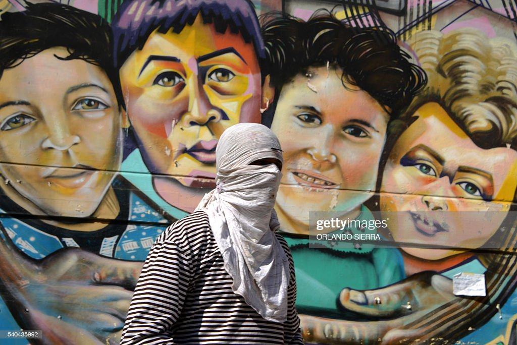 Honduras Lenca natives protest in Tegucigalpa on June 15 2016 against the murder of indigenous environmentalist Berta Caceres last March The...