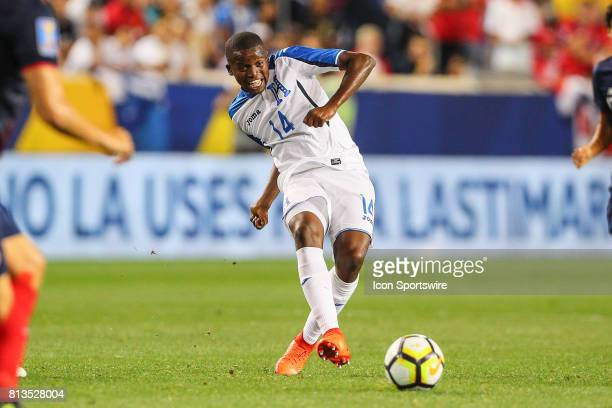 Honduras midfielder Oscar Boniek Garcia passes during the second half of the CONCACAF Gold Cup Group A Game between Costa Rica and Honduras on July...