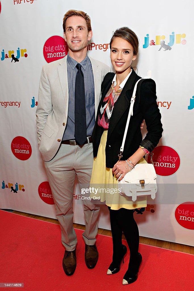 Honest Company founder <a gi-track='captionPersonalityLinkClicked' href=/galleries/search?phrase=Christopher+Gavigan&family=editorial&specificpeople=599440 ng-click='$event.stopPropagation()'>Christopher Gavigan</a> (L) and actress <a gi-track='captionPersonalityLinkClicked' href=/galleries/search?phrase=Jessica+Alba&family=editorial&specificpeople=201811 ng-click='$event.stopPropagation()'>Jessica Alba</a> attend Big City Moms Biggest Baby Shower Ever produced by Big City Moms and Fit Pregnancy on May 9, 2012 in New York City.