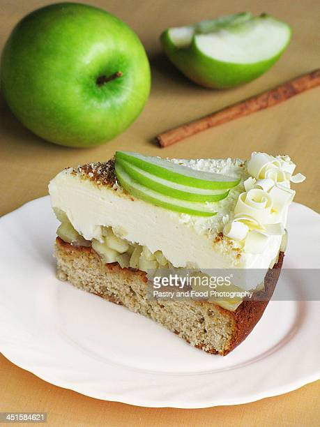 Honey Apple Cake with Creamy Mousse