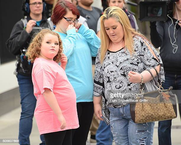 Honey Boo Boo and her mom Mama June along with sister Pumpkin in Beverly Hills Ca on January 18 2016 in Los Angeles California