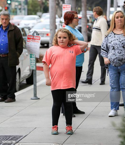 Honey Boo Boo and Mama June are seen on January 18 2016 in Los Angeles California