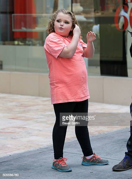 Honey Boo Boo is seen on January 18 2016 in Los Angeles California
