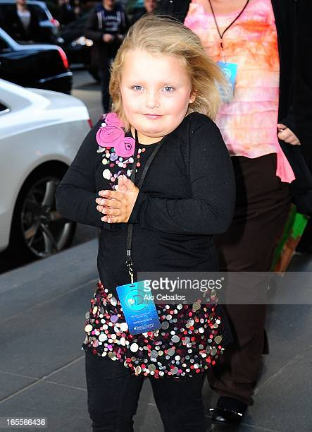 Honey Boo Boo is seen Uptown on April 4 2013 in New York City