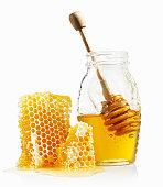 Honey Comb and Jar