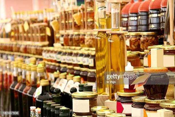 Miel, de l'huile de cuisson et à la confiture