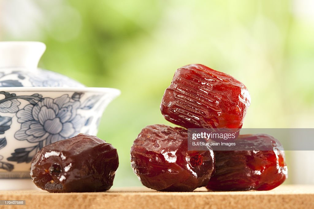 Honey date, Chinese specialty : Stock Photo