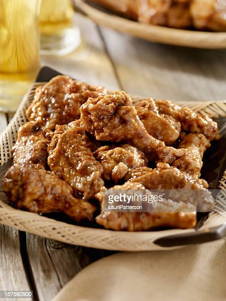 Honey Garlic Chicken Wings with a Beer