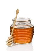 Honey jar and dipper