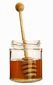 Honey jar with honey dipper