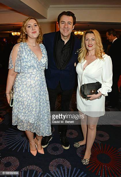 Honey Kinney Ross Jonathan Ross and Jane Goldman attend the Jameson Empire Awards 2016 at The Grosvenor House Hotel on March 20 2016 in London England