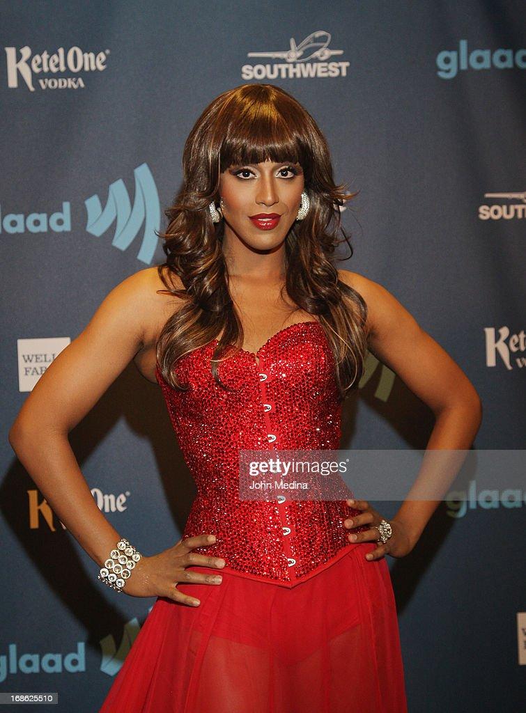 Honey Mahogany attends the 24th Annual GLAAD Media Awards at the Hilton San Francisco - Union Squareon May 11, 2013 in San Francisco, California.