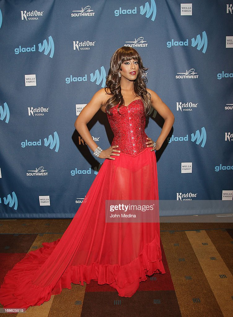Honey Mahogany attends the 24th Annual GLAAD Media Awards at the Hilton San Francisco - Union Squareon May 11, 2013 in San Francisco, California.