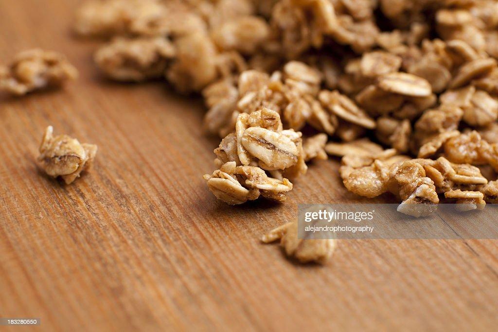 Honey roasted granola clusters : Stock Photo